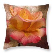 Pressed Against My Heart Throw Pillow