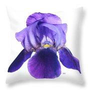 Prettiest Purple Iris Throw Pillow