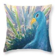 Pretty As A Peacock Throw Pillow