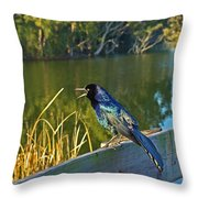 Pretty Bird At A Sunrise Throw Pillow