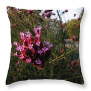 Pretty Buds Throw Pillow