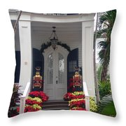 Pretty Christmas Decoration In Key West Throw Pillow