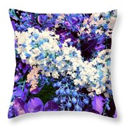 Pretty Cluster Throw Pillow