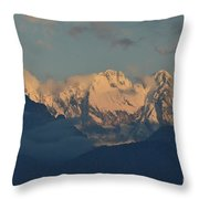 Pretty Countyside In Italy With Huge Mountains  Throw Pillow
