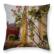 Pretty English Cottage  Throw Pillow