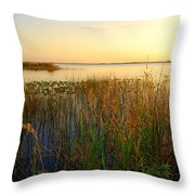 Pretty Evening At The Lake Throw Pillow
