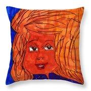 Pretty Face Throw Pillow