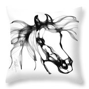 Pretty Filly's Ears Throw Pillow by Stacey Mayer