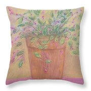 Pretty Flowers In Pink Throw Pillow
