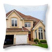 Pretty House Throw Pillow