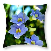 Pretty In Blue Throw Pillow