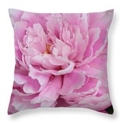 Pretty In Pink Peony Throw Pillow