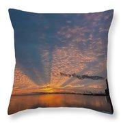 Pretty Industrial Sunrise Throw Pillow