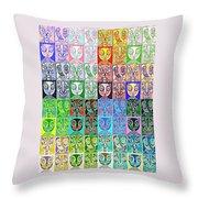 Pretty Kitties Pop Art Throw Pillow