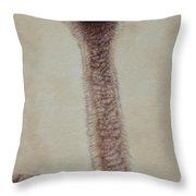 Pretty Lady -female Ostrich Throw Pillow