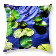 Pretty Lily Pads Throw Pillow