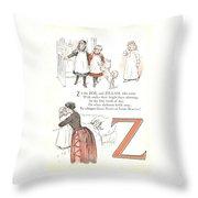 Pretty Name Abc Letter Z Throw Pillow