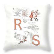 Pretty Name Abc R And S Throw Pillow