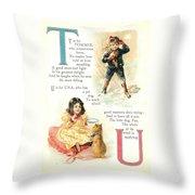 Pretty Name Abc T And U Throw Pillow