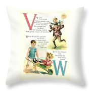 Pretty Name Abc V And W Throw Pillow