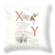Pretty Name Abc X And Y Throw Pillow