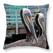 Pretty Pair Throw Pillow
