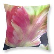 Pretty Parrot Tulip 2 Throw Pillow