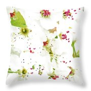 Pretty Pear Petals Throw Pillow