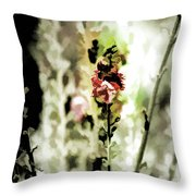 Pretty Perennial Throw Pillow