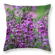 Pretty Pink And Purple Flowers Throw Pillow