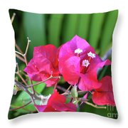 Pretty Pink Flowers 2 Throw Pillow