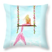 Pretty Pink Swing Throw Pillow