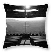 Pretty Place Aka Fred W. Symmes Chapel Black And White Throw Pillow