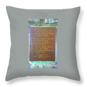 Pretty Place Plaque Throw Pillow