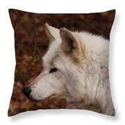 Pretty Profile Throw Pillow