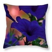 Pretty Petunias Throw Pillow