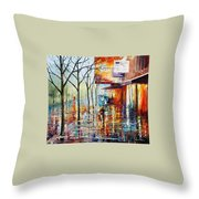 Pretty Rain Throw Pillow