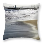 Pretty Sand Throw Pillow