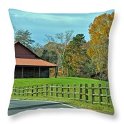 Pretty Scene In The Hills  Throw Pillow