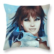 Pretty Smile Throw Pillow