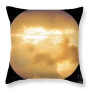 Pretty Storm Clouds With Sun Shine Throw Pillow