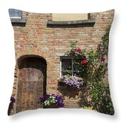 Pretty Terrace Beside The Groenerei Canal In Bruges Belgium Throw Pillow