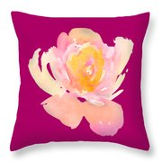 Pretty Watercolor Flower Throw Pillow