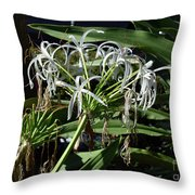 Pretty White Flowers Throw Pillow
