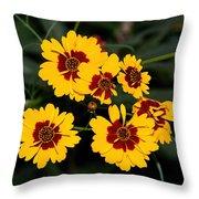 Pretty Yellow Flowers Throw Pillow
