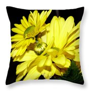 Pretty Yellow Flowers Throw Pillow