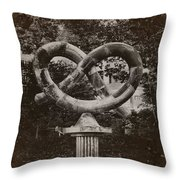 Pretzel Park - Manayunk Throw Pillow