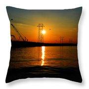 Price Legg Bridge Sunset Throw Pillow