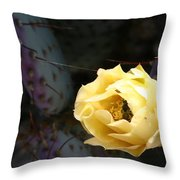 Prickly Bee Throw Pillow
