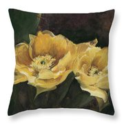 Prickly Pear Beauties Throw Pillow